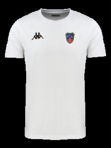 T-shirt Homme Blanc Ecole de rugby