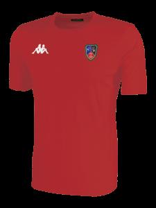 T-shirt Homme Rouge Ecole de rugby